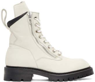 Julius Off-White Combat Boots