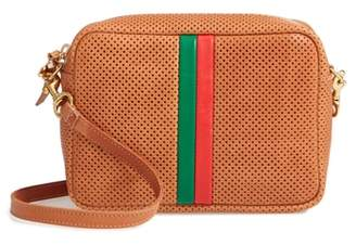 Clare Vivier Midi Sac Perforated Leather Crossbody Bag