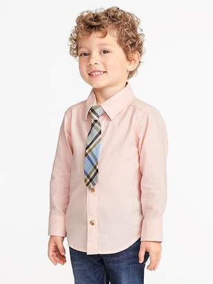 Old Navy Oxford Dress Shirt & Tie Set for Toddler Boys