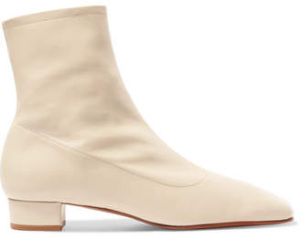 Off-White BY FAR - Este Leather Ankle Boots