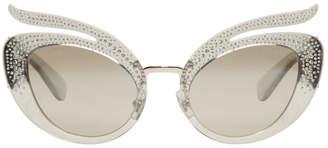 Miu Miu Grey Folie Sunglasses