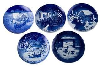 Royal Copenhagen 5-Piece Christmas Plates 1967-1970