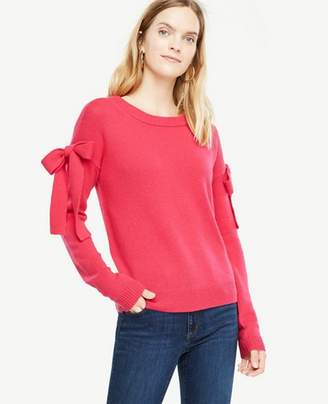 Ann Taylor Petite Shoulder Tie Sweater