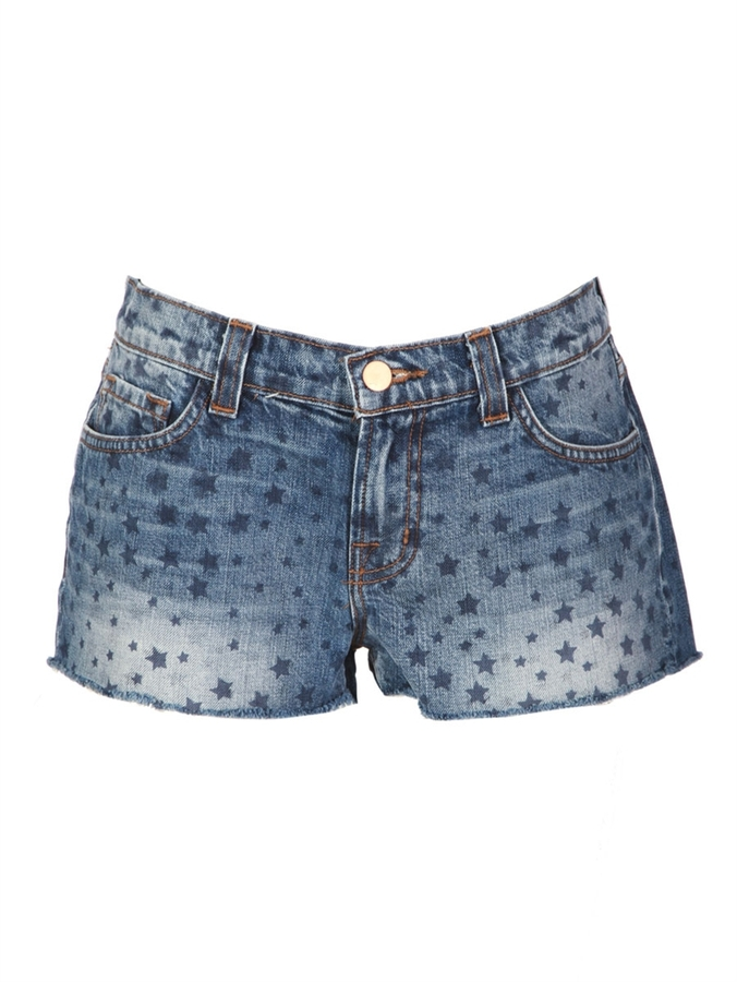 J BRAND Star Print Cutoff Shorts