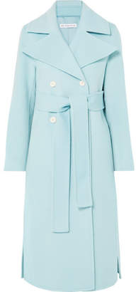 REJINA PYO - Simone Belted Wool-blend Felt Coat - Sky blue