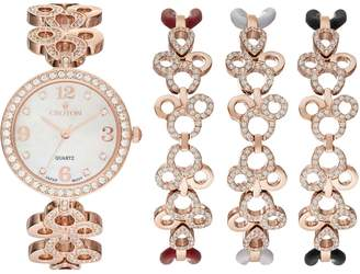 Croton Women's Austrian Crystal Watch & Bracelet Set