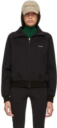 Balenciaga Black Mini Logo Zip-Up Sweater