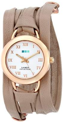 La Mer Women's LMSATURN002 Nude Rose Gold Saturn Wrap Watch