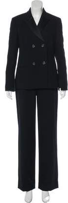 Gianni Versace Peak-Lapel High-Rise Pantsuit