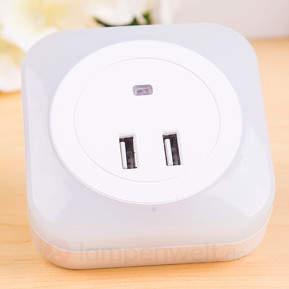 LED-Nachtlicht Brit mit Sensor und USB-Anschlüssen