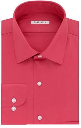 Van Heusen Mens Dress Shirts Regular Fit Lux Sateen Solid Spread Collar