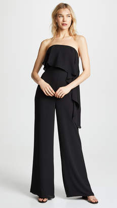 Halston Strapless Wide Leg Jumpsuit