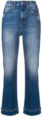 7 For All Mankind beaded hem cropped jeans
