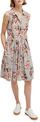 French Connection Sleeveless Floral Shirt Dress