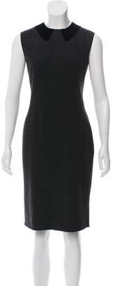 Tomas Maier Virgin Wool Sleeveless Dress