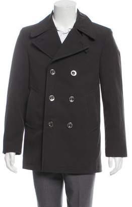 Burberry Quilted Double-Breasted Peacoat