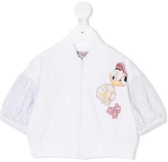 MonnaLisa embroidered bomber jacket