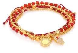 Astley Clarke Biography Hamsa In Safe Hands White Sapphire, Red Agate& Carnelian Silken Beaded Charm Bracelet