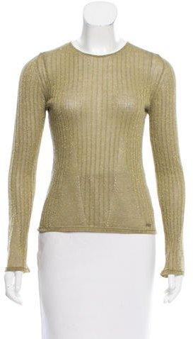 Chanel Wool Metallic Top