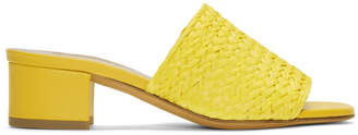 Maryam Nassir Zadeh Yellow Straw Sophie Slides