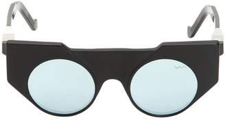 Matte & Shiny Acetate Cat Eye Sunglasses