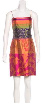 Oscar de la Renta Printed Sheath Dress