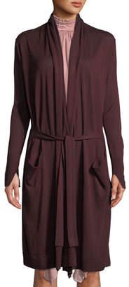 Halston Long-Sleeve Open-Front Cardigan