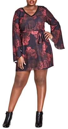 City Chic Crimson Rose Tunic Dress