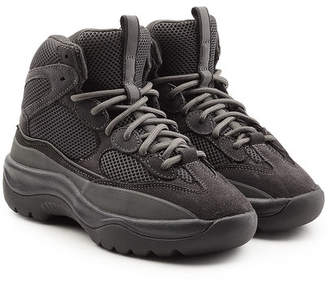 Yeezy Sneakers in Suede and Mesh