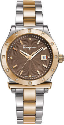 Salvatore Ferragamo Women's 1898 Diamond Watch