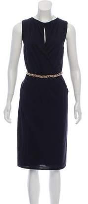 Versace Belted Knit Dress
