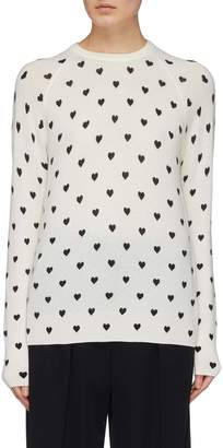 Equipment 'Sloane' heart print cashmere sweater
