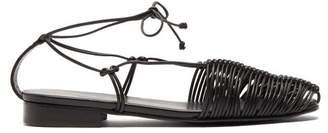 Hereu - Valva Woven Leather Sandals - Womens - Black