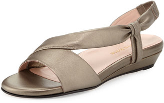 Taryn Rose Ion Leather Demi-Wedge Sandal $104 thestylecure.com