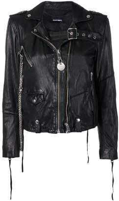Diesel washed biker jacket