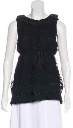 Anna Sui Off-The-Shoulder Sleeveless Top