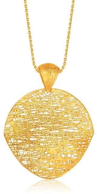 Ice Italian Design 14K Yellow Gold Woven Artistic Pendant