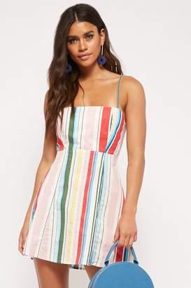 Forever 21 Noisy May Tie-Back Striped Mini Dress