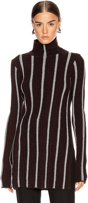 Jil Sander High Neck Long Sleeve Sweater in Stripe | FWRD