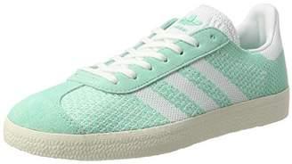 adidas Women's Gazelle Primeknit Trainers, Easy Green/Footwear Chalk White