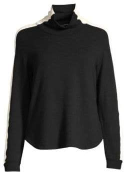 Monrow Women's Two-Tone Sweatshirt - Black - Size XS