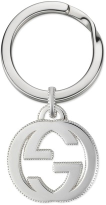 Gucci Interlocking G keychain in silver