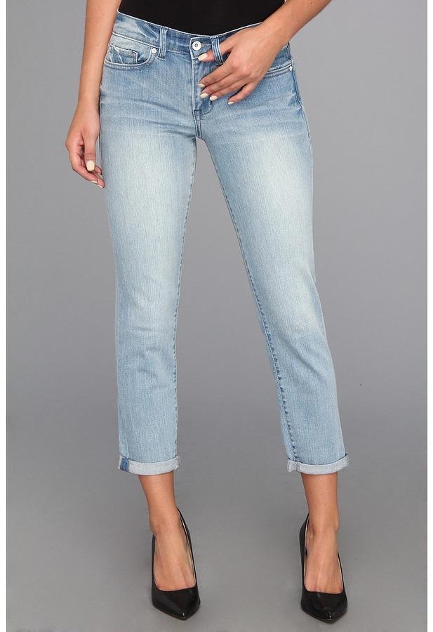 Calvin Klein Jeans Vintage Comfort Stretch Beachcomber Blue Straight Crop Pant (Light Wash) - Apparel