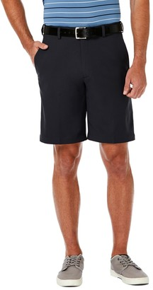 Haggar Men's Cool 18 PRO Straight-Fit Solid Flat-Front Shorts