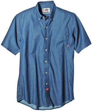 Dickies Short-Sleeve Denim Work Shirt-Big & Tall
