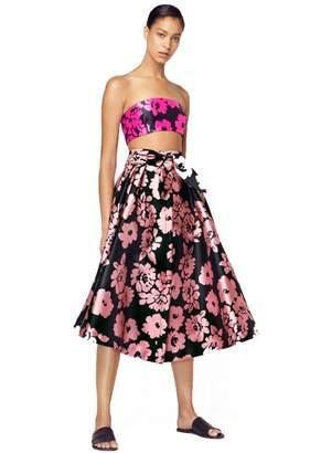 Milly Floral Print Straight Bikini Top