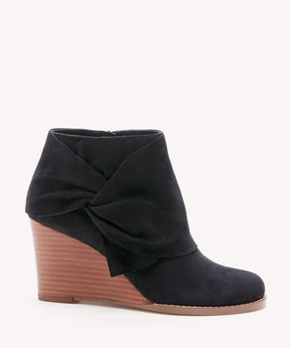 Sole Society Women's Pegie Wedges Bootie Black Size 5 Suede From