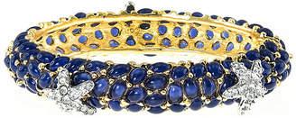 Kenneth Jay Lane KJL BY KJL by Blue Stone & Crystal Starfish Bangle Bracelet