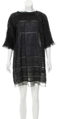 Isabel Marant Lace-Trimmed Tent Dress