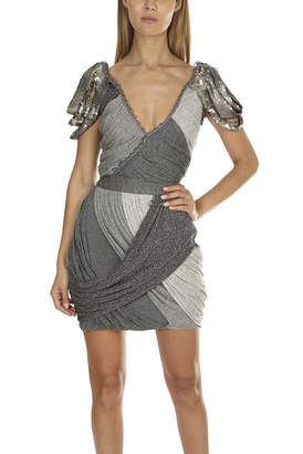 Coven Silver Beaded Dress